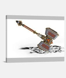 Hammer hit ground