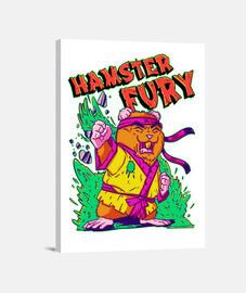 Hamster Fury - Lienzo Vertical 3:4 - (30 x 40 cm)