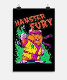 Hamster Fury - Póster vertical 2:3 - (20 x 30 cm)