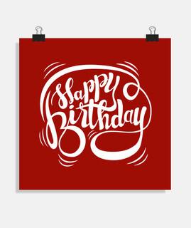 Happy Birthday (Blanco)