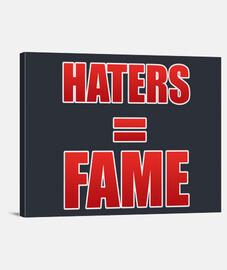 haters toile horizontales = célébrité