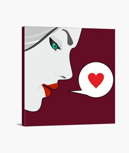 Heart face canvas