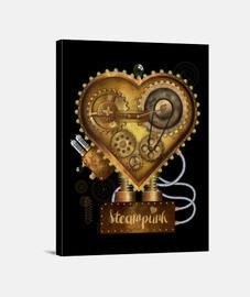 heart steampunk metal