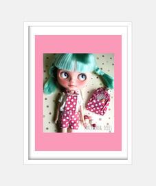 Helena, custom Blythe Basaak doll