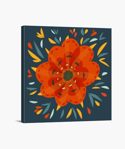 Lienzo hermosa flor de naranja decorativa