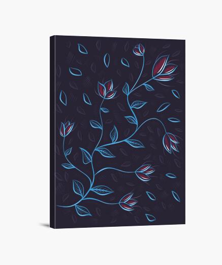 Lienzo hermosas flores abstractas brillantes