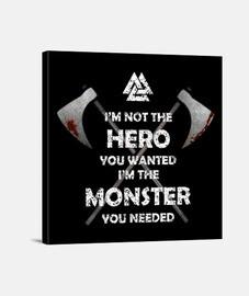 héros monstre y.es_051a_2019_hero monstre impression sur toile