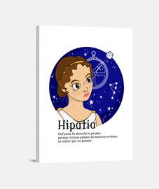 Hipatia con frase