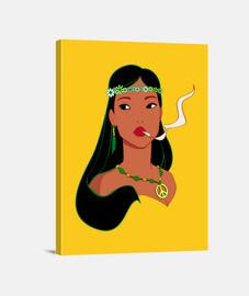 Hippiehontas Pocahontas Fumando