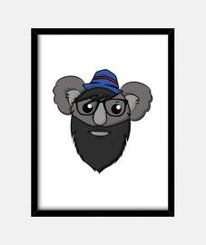 Hipster Koala - Framed Vertical