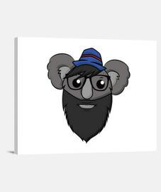 Hipster Koala - Lienzo Horizontal