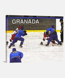 Hockey - Lienzo Horizontal 4:3 - (40 x 30 cm)