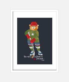 Hockey Bear Cuadro