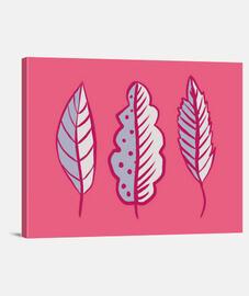 hojas abstractas rosadas azules