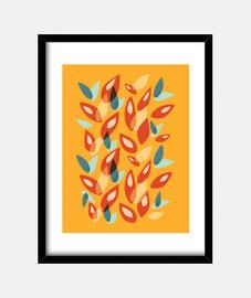 hojas de otoño geométricas abstractas