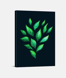 hojas verdes abstractas decorativas