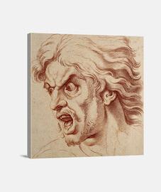 Hombre furioso, retrato clásico