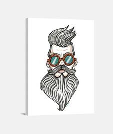 homme barbu.