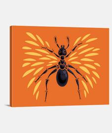 hormiga con alas abstracta fresca