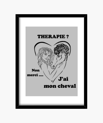Horse therapy background light frame 30x40...