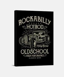 hotrod rockabilly musique vintage rockers USA impression sur toile