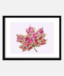 hübsches buntes aquarell herbstblatt