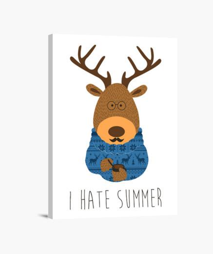 Lienzo I hate summer