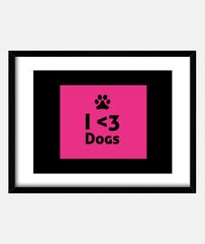 I Heart Dogs - Framed