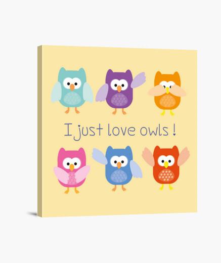 Lienzo I just love owls!