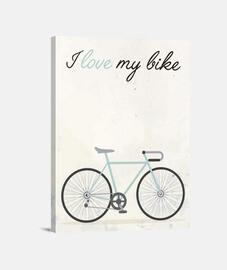 I love my bike (blue)