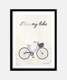 I love my bike (violet)