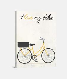 I love my bike (yellow)