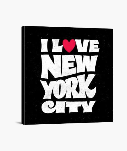Lienzo I Love New York City