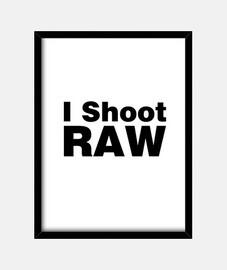 i sparare (sfondo bianco) cruda
