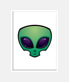 icona della testa aliena