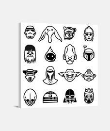 icônes classiques star wars