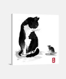 il gatto un il little topo
