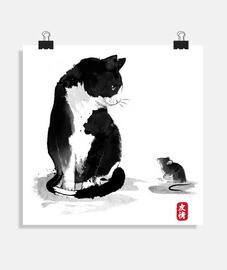 il gattoto un il little topo