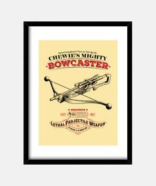 il potente bowcaster incorniciato