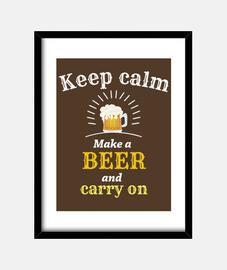 image calme de la bière