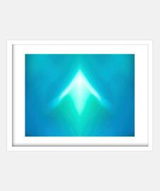 Imagen abstracta azul ( fotografía )