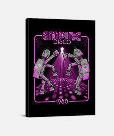 imperio disco 1980 / scifi / atat / impresión de la lona