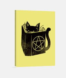 impresión del gato brujería