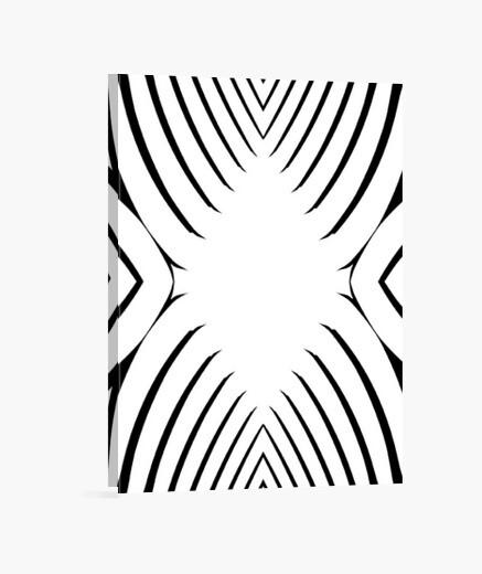 Stampa Su Tela In Bianco E Nero Disegno Astratto E Moderno Tela