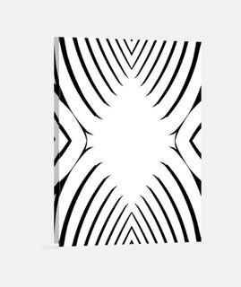 in bianco e nero, disegno astratto e moderno tela montante 3: 4 - (30 x 40 cm) in bianco e nero, mod