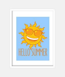 inferno o il sole estate con gli occhia