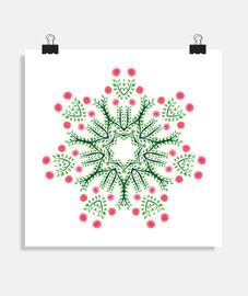 Ink Drawn Abstract Flower Mandala