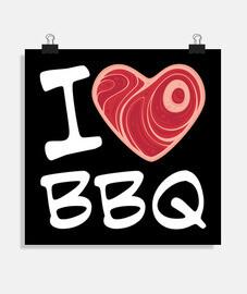 j'adore le barbecue - texte blanc