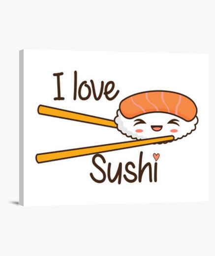 Tableau j'aime sushi