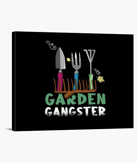 Lienzo jardín gángster gracioso hobbygartic